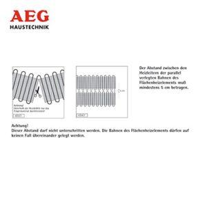 AEG 221453 TBS TC 30 Set 200/1 T Fußbodentemperiersystem Comfort Turbo, 1 m² Breite 30 cm, 200W/m² - 3