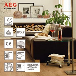 AEG 221453 TBS TC 30 Set 200/1 T Fußbodentemperiersystem Comfort Turbo, 1 m² Breite 30 cm, 200W/m² - 2